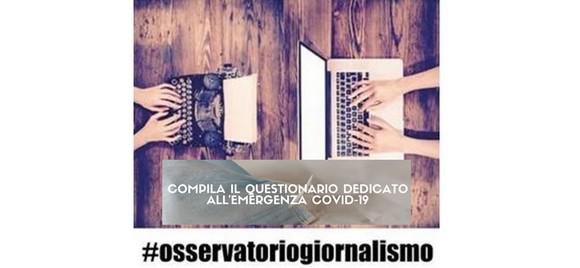 """Osservatorio sul giornalismo di AGCOM: è online il nuovo questionario """"Speciale Emergenza COVID-19"""""""