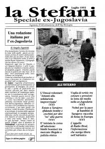 Uno dei primi numeri de La Stefani, testata dell'Ifg della quale Agostini fu condirettore.