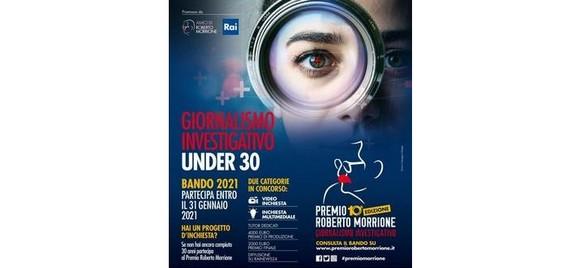 Giornalismo investigativo: nuovo bando per under 30 del Premio Roberto Morrione. Scadenza 31 gennaio 2021